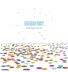 Confetti floor surface pattern isolated on vector