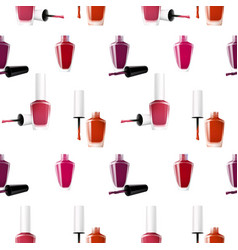 Realistic nail polish seamless pattern vector