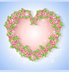 festive card for a wedding or a birthday wreath of vector image