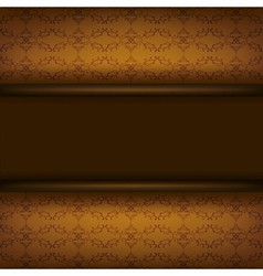 Vintage ornamental brown background with board vector image