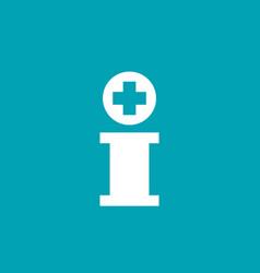 letter i cross plus logo icon design template vector image