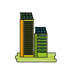 Green energy urban ecology nature house or vector
