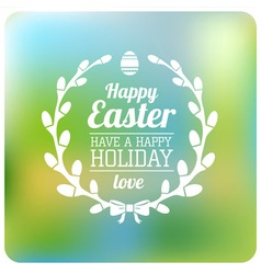 Easter typographical background flat design vector