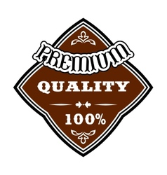 Premium quality retro label vector