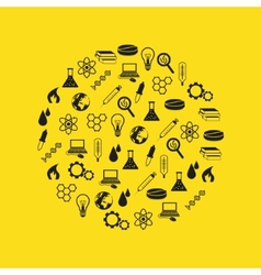 science icons in circle vector image