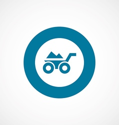 Wheelbarrow bold blue border circle icon vector