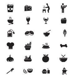 Food Solid Icons 5 vector image