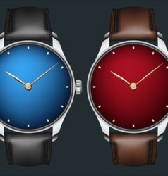 Realistic wrist watch vector