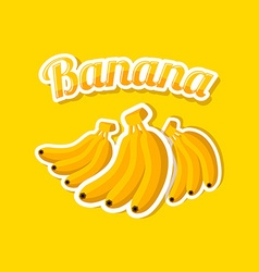 Retro banana vector