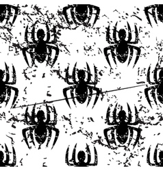 Spider pattern grunge monochrome vector