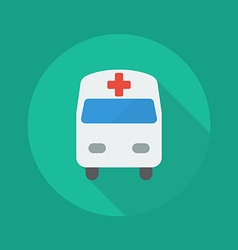 Medical flat icon ambulance vector