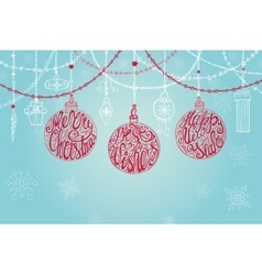Christmas ballgarlandsnew year card vector