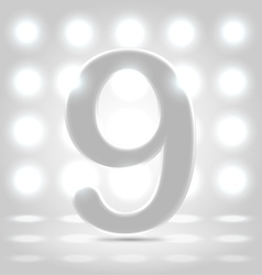 9 over back lit background vector image vector image