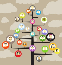 Abstract community tree vector image vector image
