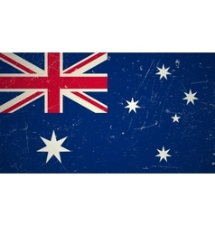 Australian flag with grunge texture vector image