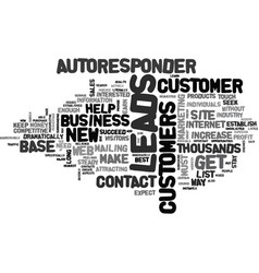 Autoresponder leads create a customer base vector