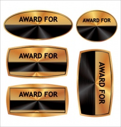 award blank set vector image