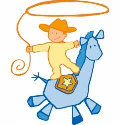 baby cowboy vector image vector image