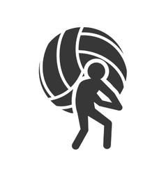 Ball volleyball sport design vector