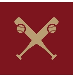 Baseball icon sport symbol flat vector