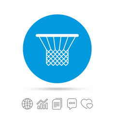 Basketball basket icon sport symbol vector