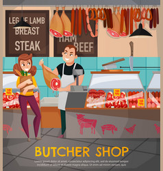 Butcher shop vector