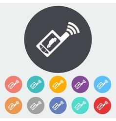 Car remote control flat icon vector
