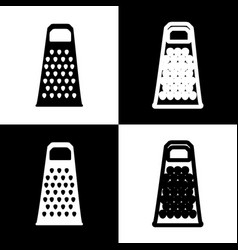 Cheese grater sign black and white icons vector