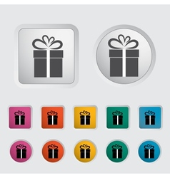 Christmas with gift box 3 vector image vector image