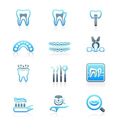 Dental set - MARINE series vector image vector image