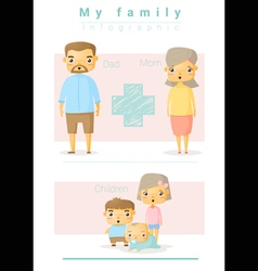 Family background and infographic 4 vector