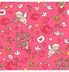 floral pattern valentine red vector image vector image