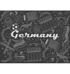 Germany chalk vector