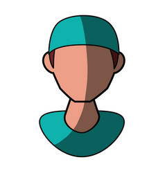 Isolated nurse man face vector