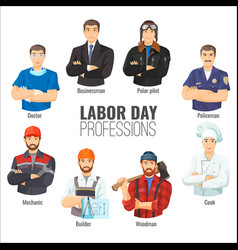 labor day promotional poster with popular vector image vector image