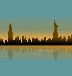 Landscape of building usa silhouettes vector