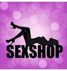Logo for a sex shop vector