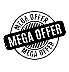 Mega offer rubber stamp vector