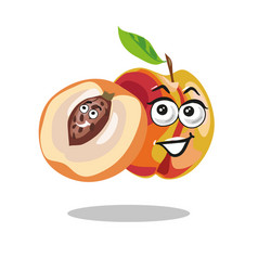 Peach cartoon with kid seed vector