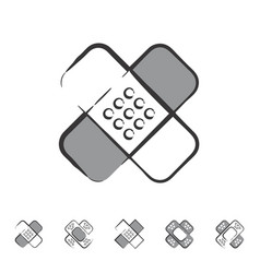 plaster or band aid icon medical patch symbol vector image