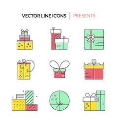 Present Icons vector image