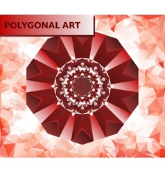 Red mandala like chakra flower design mehndi paint vector
