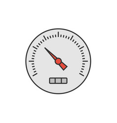 speedometer flat icon vector image vector image