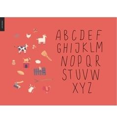 Uppercase alphabet 2 vector