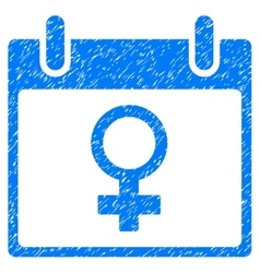 Venus female symbol calendar day grainy texture vector