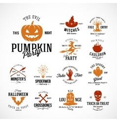 Vintage Halloween Badges or Labels vector image vector image