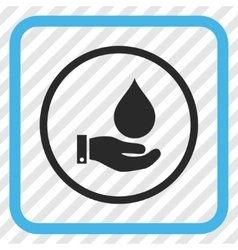 Water service icon in a frame vector