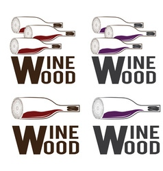 Wine wood concept design template vector