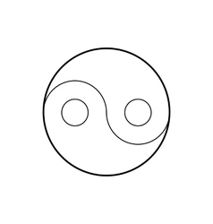 Yin yang symbol icon outline style vector