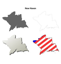 New haven map icon set vector